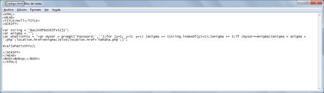 Imagen V: Listo para jugar con el código